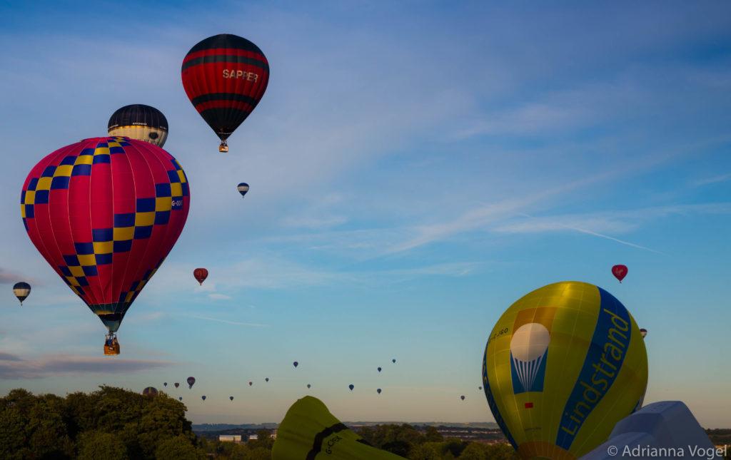 Hot Air balloons taking flight over Bristol