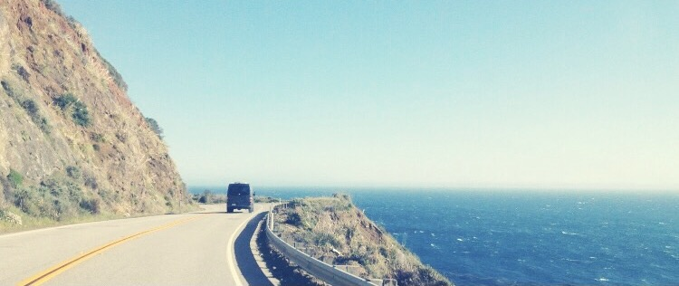 Driving Down Highway 1 In California
