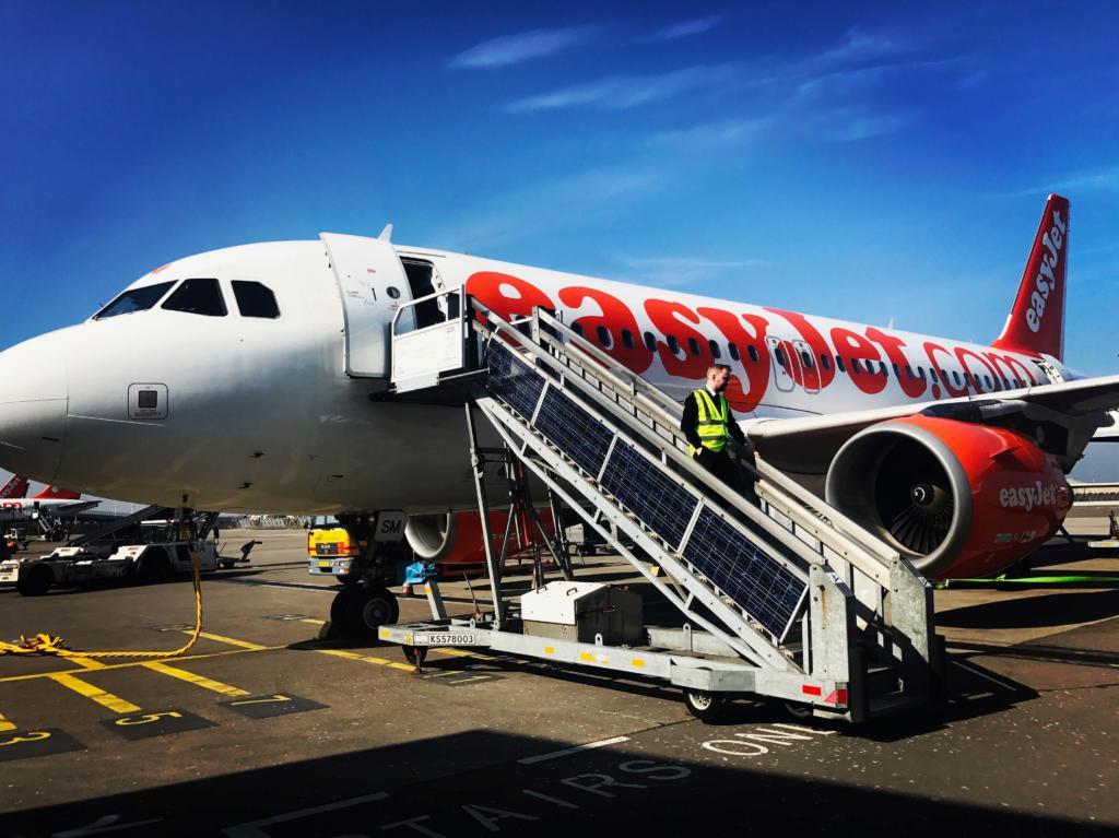 Easy Jet outside plane